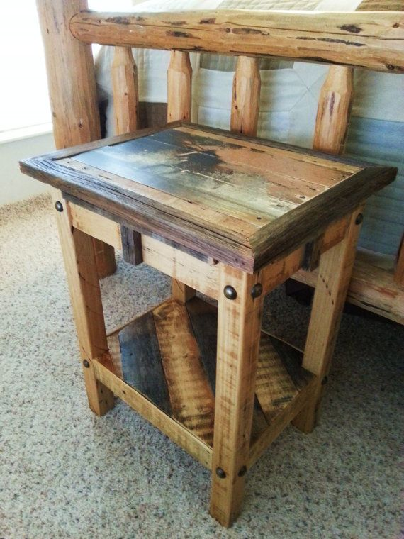 End Table, Night Stand, Rustic Table, Small Table, Small Stand, Pallet Table, Custom Table, Custom Furniture