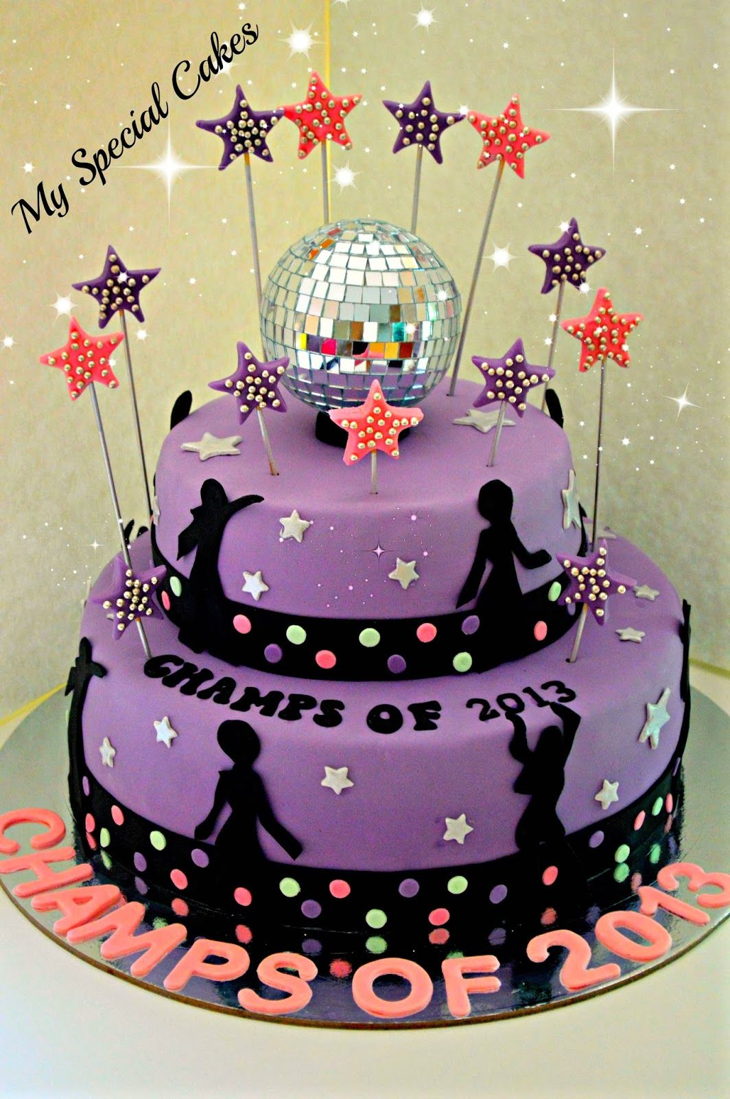 Disco Themed Cake With Images Disco Cake Dance Birthday Cake