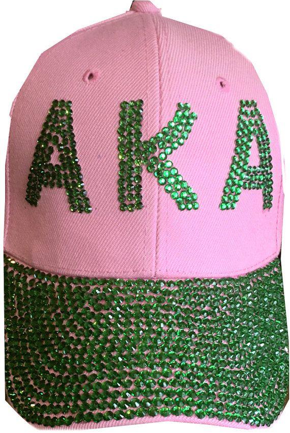 AKA Sorority Sequin Baseball Cap-Hat AKA140  d407f7bc8688