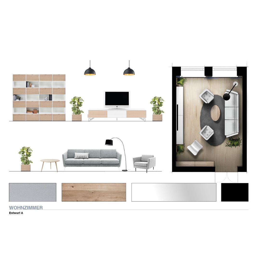 Innenarchitektur wohnzimmer grundrisse farbvarianten wohnzimmer dansichten modernearchitektur