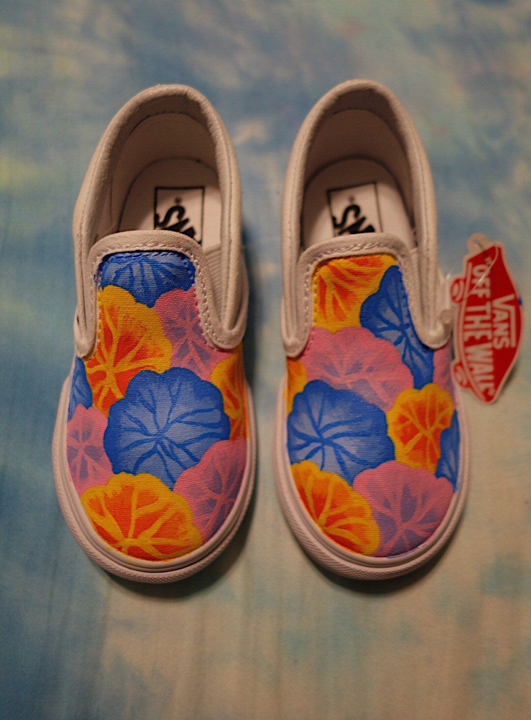 3a06614a7f3b7a Excited to share this item from my  etsy shop  Hand Painted Flower Vans for  Toddlers and Kids!!!! How cute are baby shoes😍