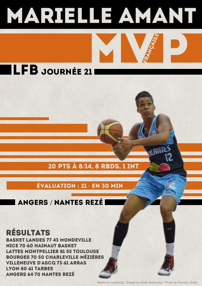 Marielle Amant - MVP Française - LFB Journée #21