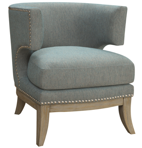 Coaster Blue Barrel Back Upholstered Accent Chair 902558