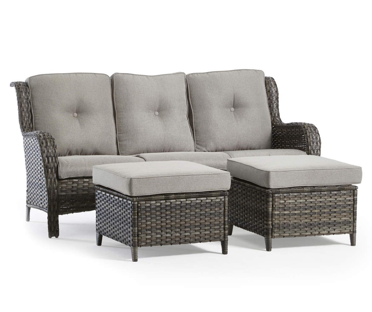 Wilson Fisher Oakmont Large Space Patio Seating Sofa Gliders