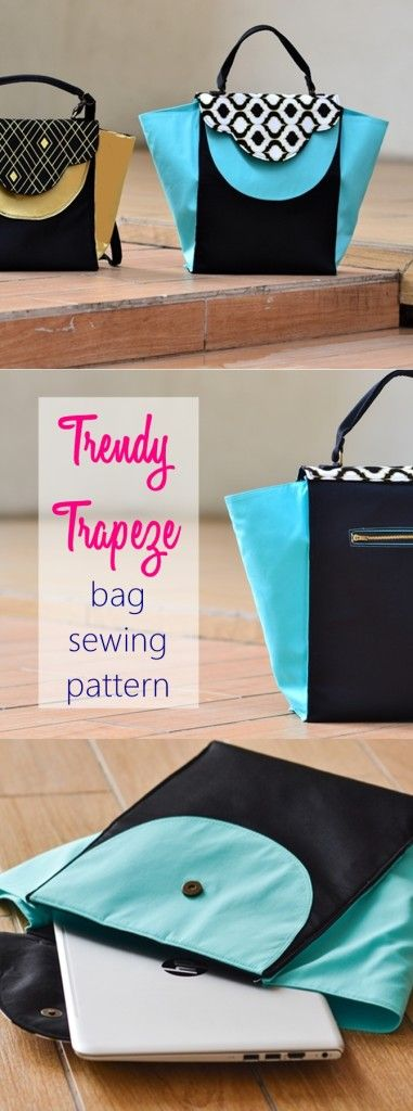 trendy trapeze bag sewing pattern by Sew Some Stuff
