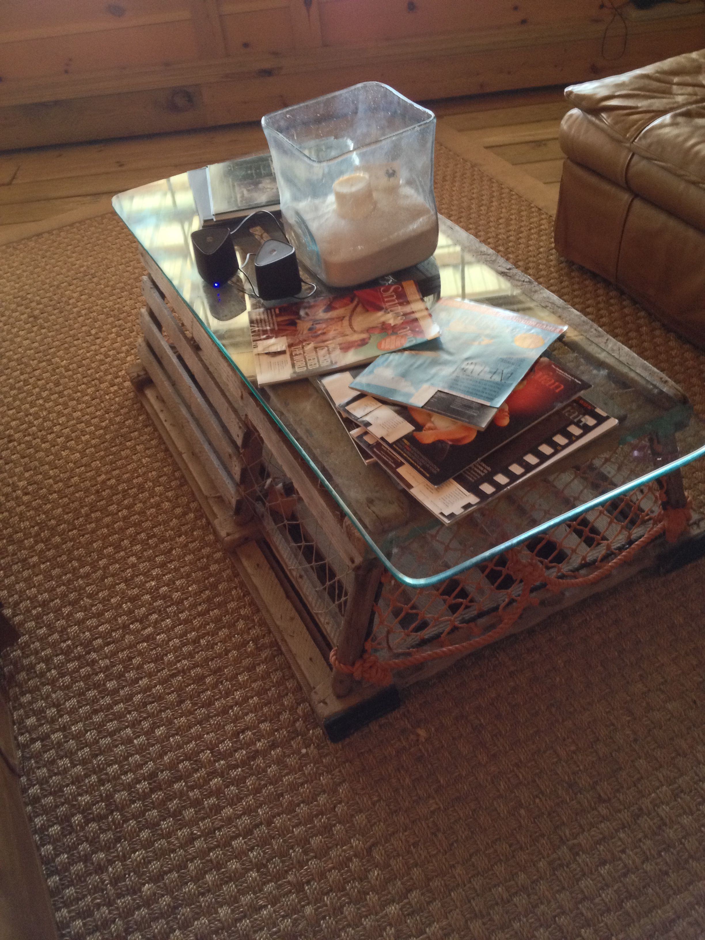 Rustic Beach Coffee Table Crab Trap Coffee Table Crabby Pinterest House