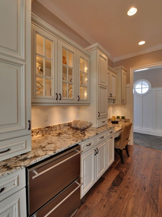 Image Of Cream Colored Distressed Kitchen Cabinets Decorating Ideas Pinterest Kitchens And