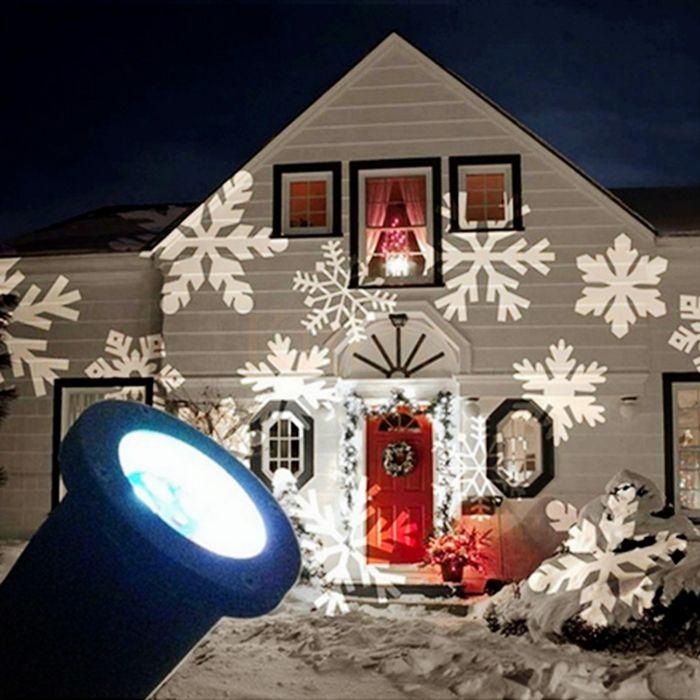 Outdoor LED Moving Laser Projector Light Lamp Landscape Xmas Garden
