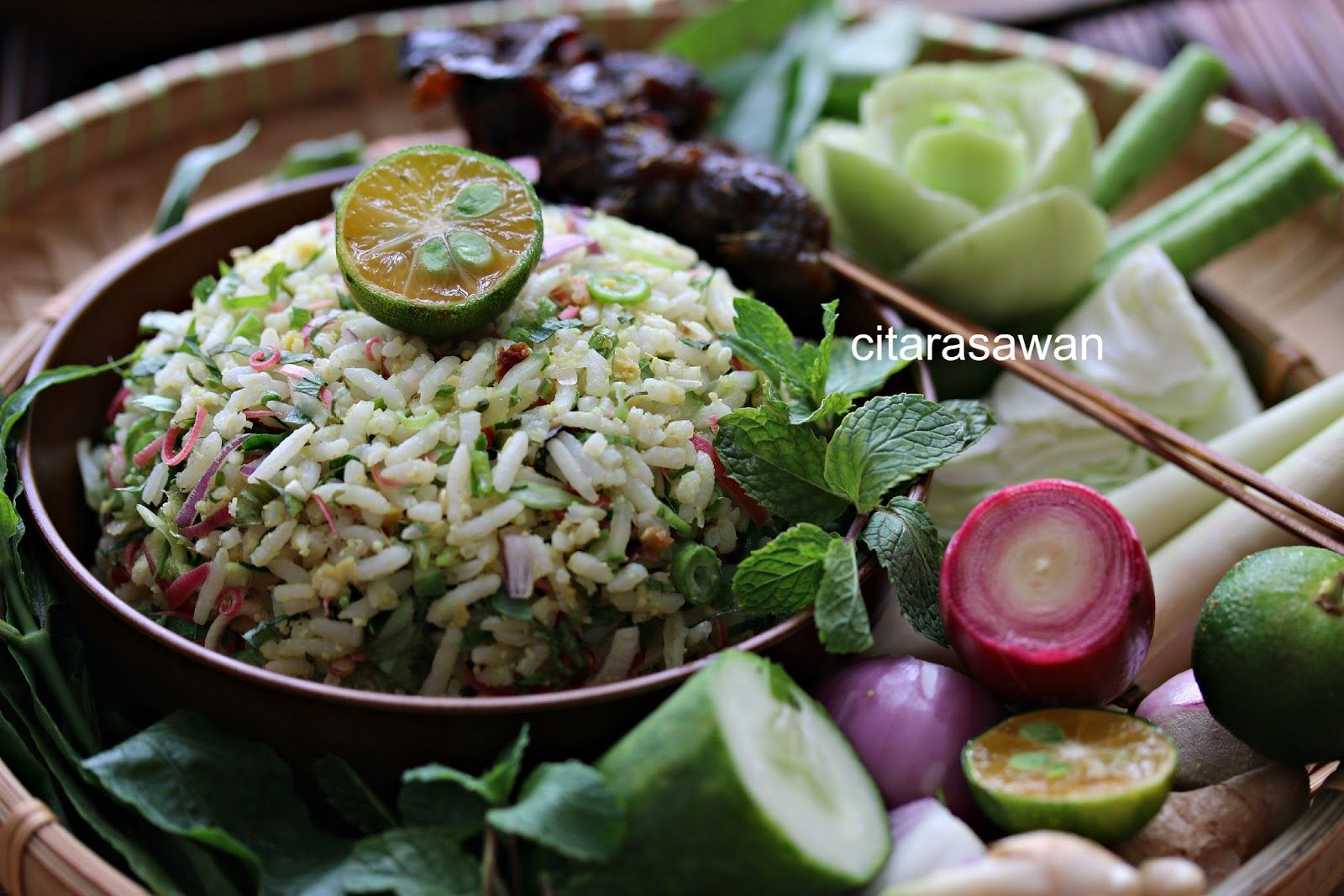 Nasi Ulam Kelantan Resepi Terbaik Makanan Resep