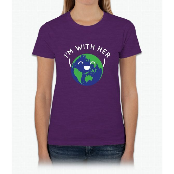 I'm With Her Womens T-Shirt