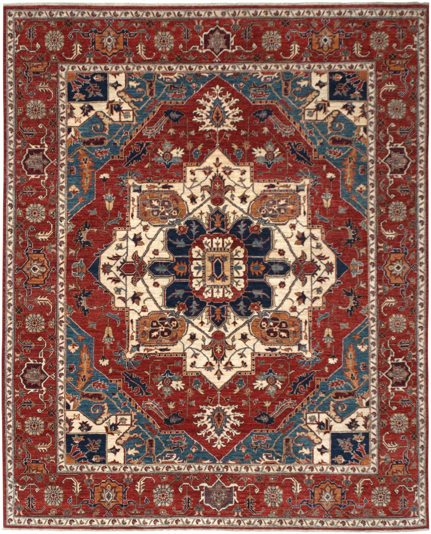 New Stan Hand Woven Antique Reproduction Of A 19th Century Persian Serapi Carpet 8 1 X 10