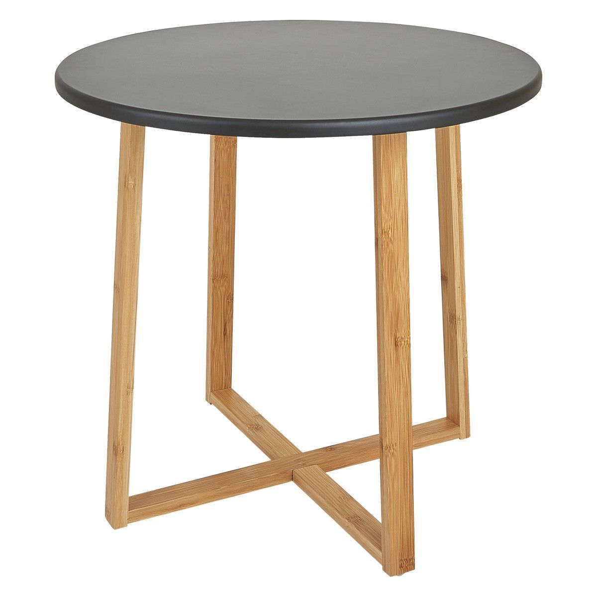 Drew Bamboo And Black Lacquer Large Side Table طاولات خدمه