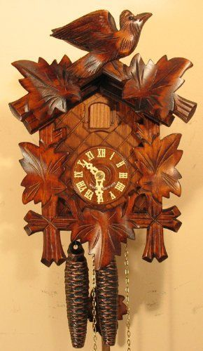 Sternreiter German Hand Carved Cuckoo Clock With One Day Movement 1200 By Sternreiter Http Www Amazon Com Dp B001iuh71g R Cuckoo Clock Clock Vintage Clock