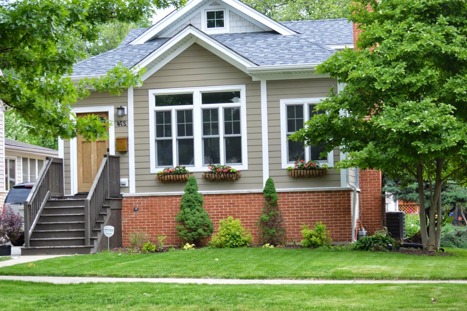 Image result for exterior house color with red brick ...