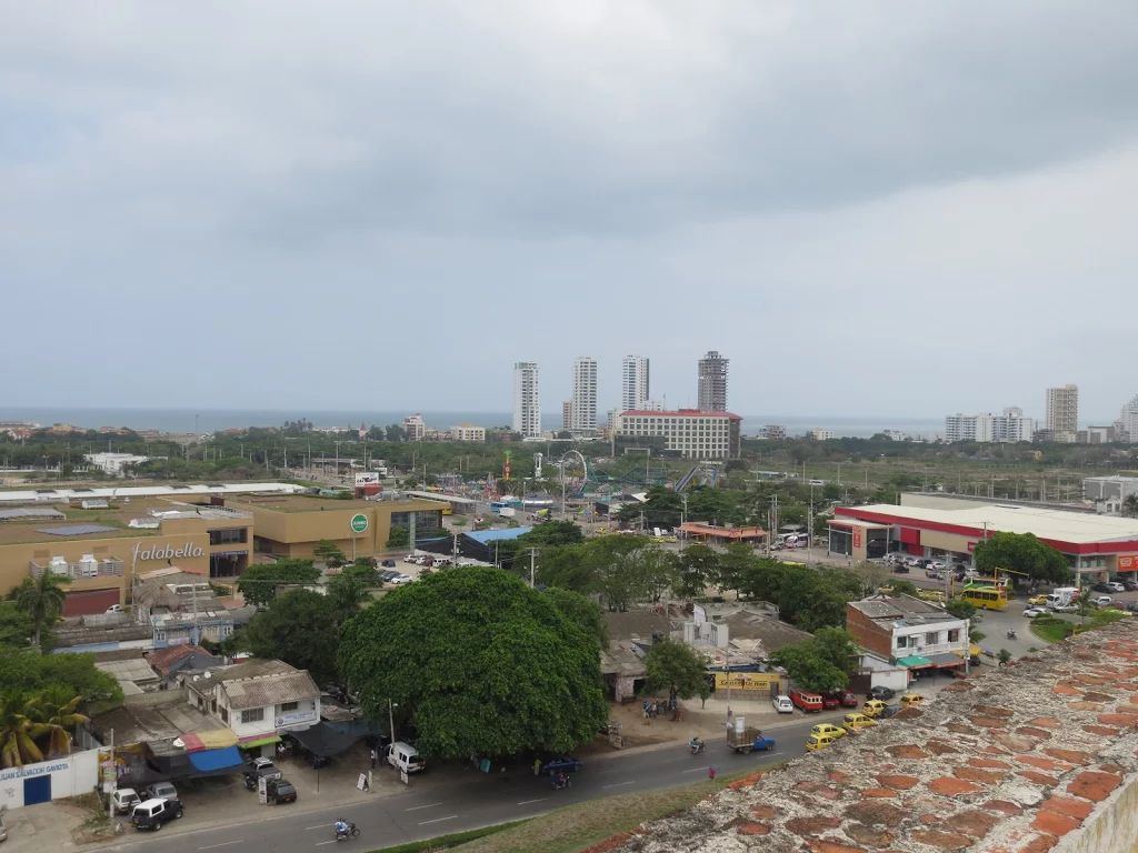 Vista ala ciudad,desde el castillo san Felipe en Cartagena Colombia