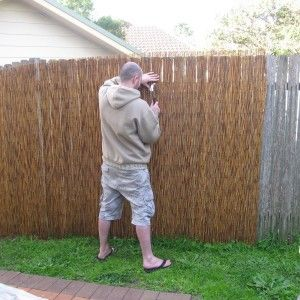 Superbe Decorate Backyard With Bamboo Reed Fence For Bamboo Fencing  And Lawn Also Patio Pavers For Outdoor Design And Garden  Decor Plus Home Depot Bamboo Fence And  ...
