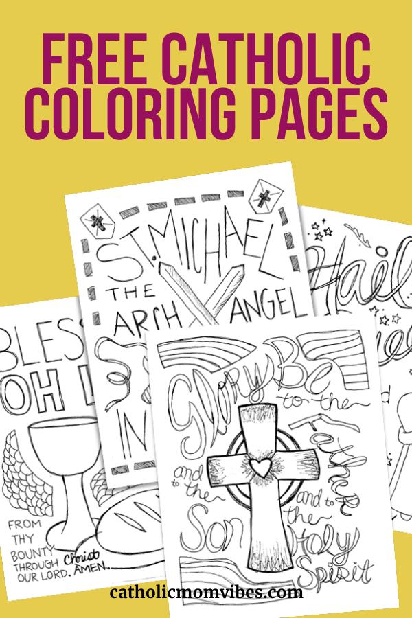 Free Catholic Coloring Pages Catholic Mom Vibes In 2020 Catholic Coloring Catholic Kids Activities Catholic Mom