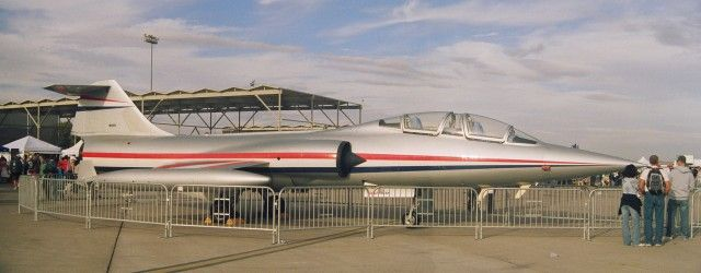 Privately owned and flown F-104 Starfighter at Aviation Nation 2007