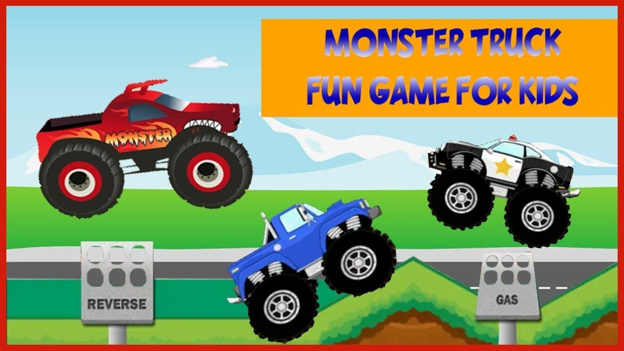 Monster Truck Game For Kids Educational Adventure Android Gameplay F Truck Games For Kids Monster Trucks Video Games For Kids
