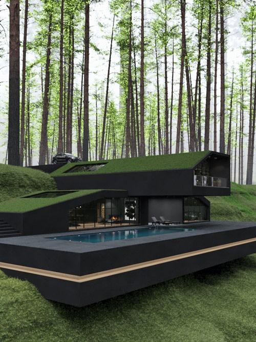 The Black Villa is an impressive piece of modern a