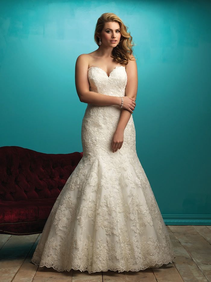 Plus Size Wedding Dresses: A Simple Guide   Allure bridals, Wedding ...