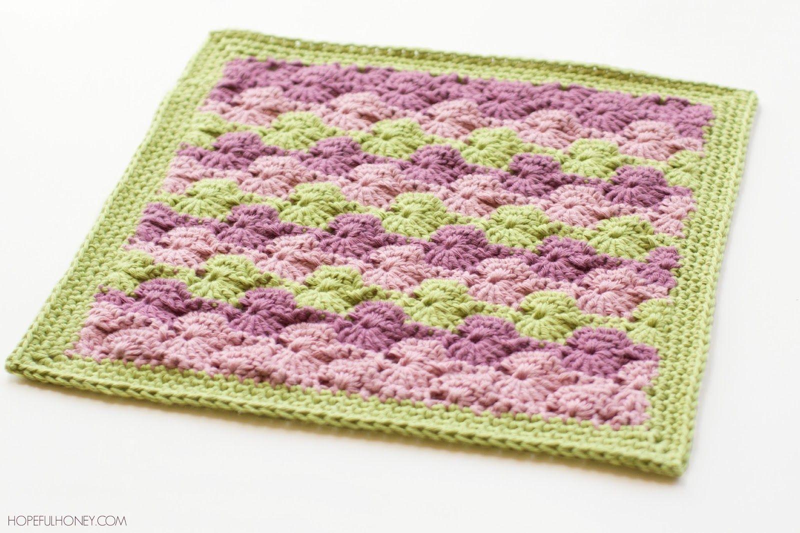 Meadow Afghan Square Crochet Pattern