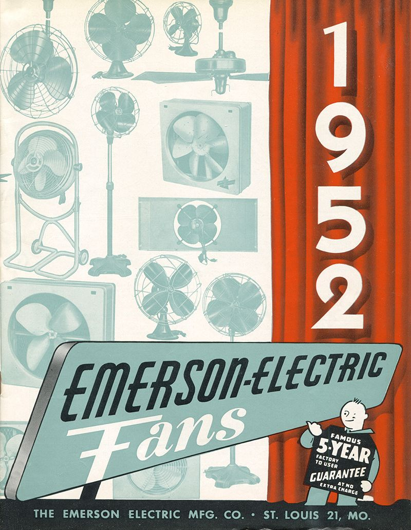 1952 emerson ceiling fans catalog emerson fans history pinterest 1952 emerson ceiling fans catalog aloadofball Choice Image