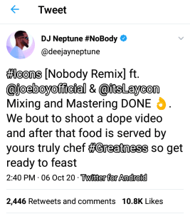 Bbnaija Good News For Icons As Laycon Features On Nobody Remix In 2020 Remix Hit Songs Good News October 29, 2020 | 1:17 am. pinterest