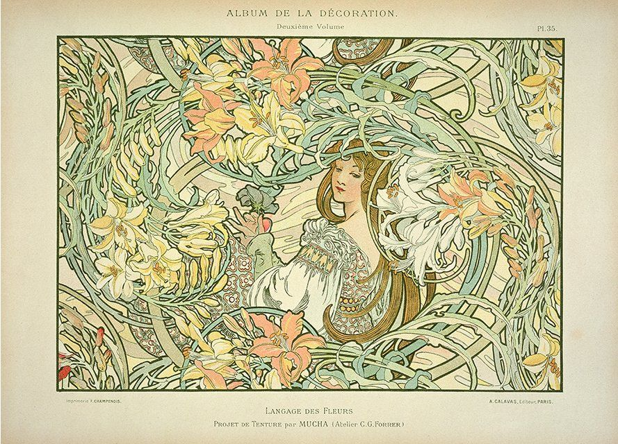 Language Of Flowers By Alphonse Mucha, Plate 35 From Album