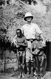 Pygmies and a European. Some pygmies would be exposed in human zoos, such as Ota Benga displayed by eugenicist Madison Grant in the Bronx Zoo.