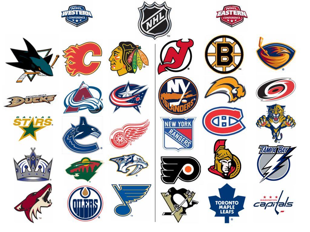 nhl team logos 2015 Google Search Nhl hockey teams