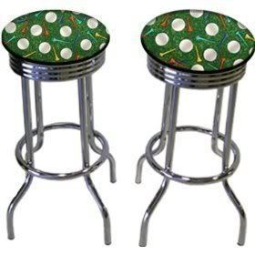 Golf Themed Room Ideas | Golf Ball U0026 Tee 29u0027u0027 Specialty Chrome Barstools Bar