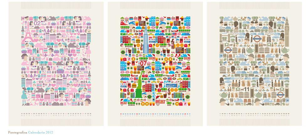 calendario fontgrafica 2012