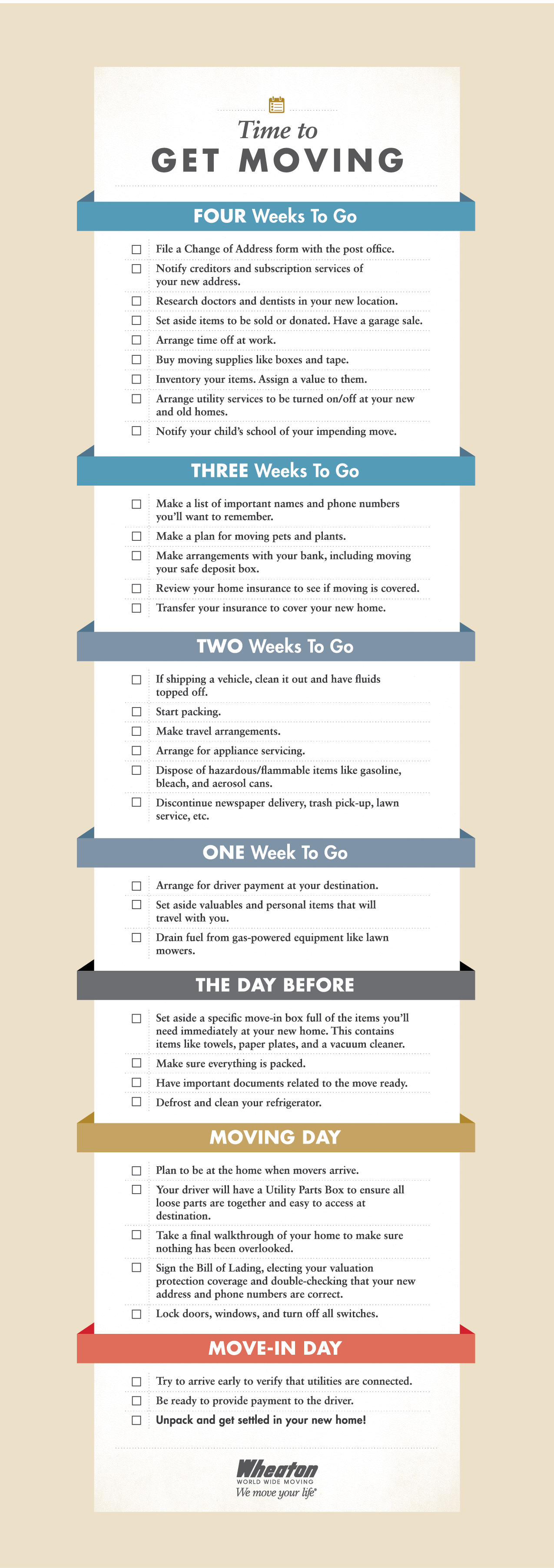 moving in checklist for house