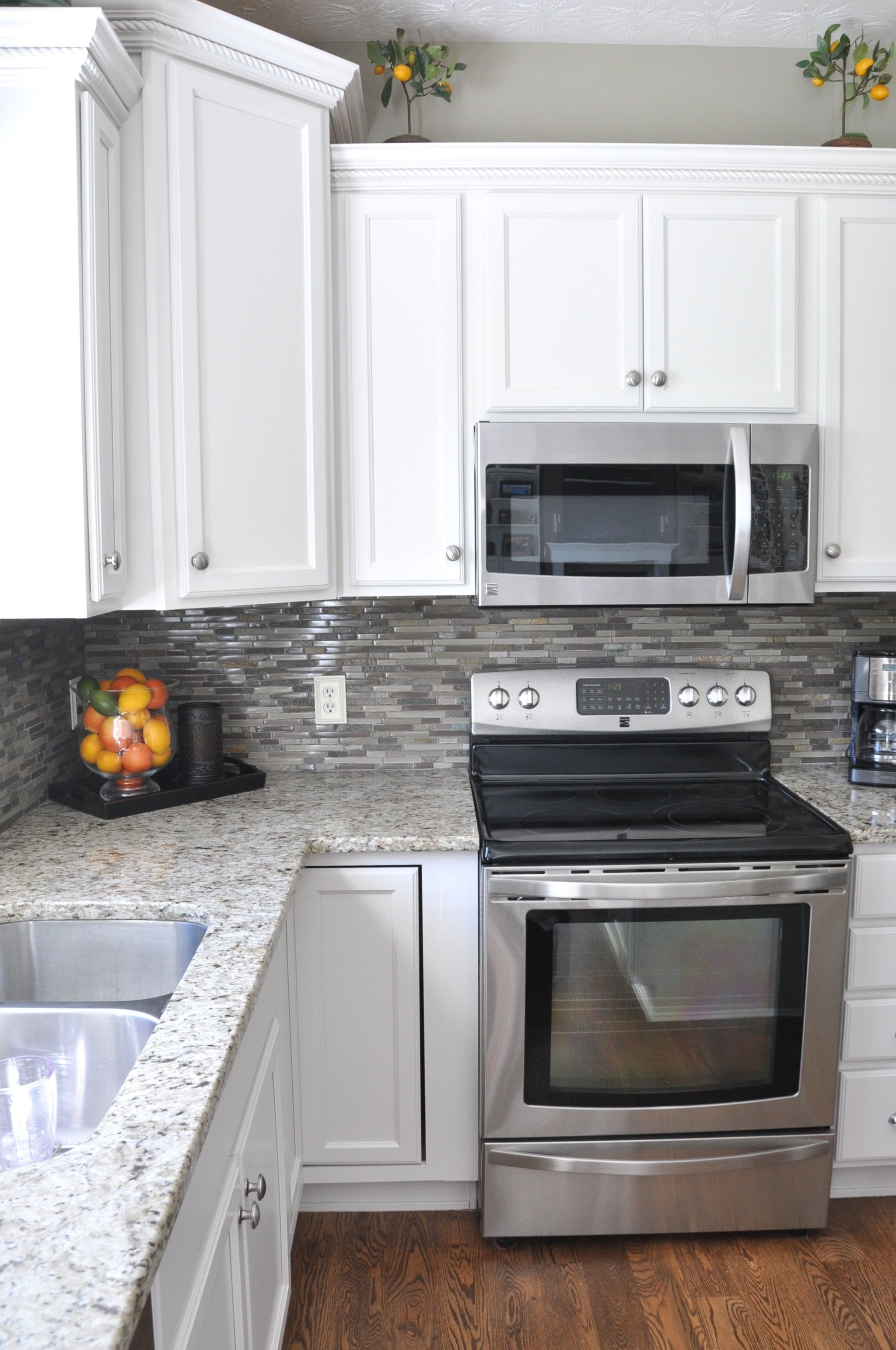 Beau A Maple Kitchen Facelift Project   With Refinished Floors And Refreshed  Cabinets!