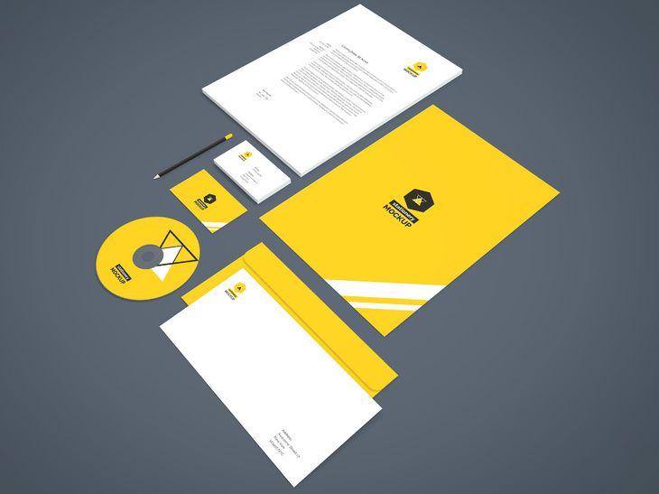 Branding Stationery Mockup Vol 2 Stationery Mockup Stationery Branding Mockup Free Psd