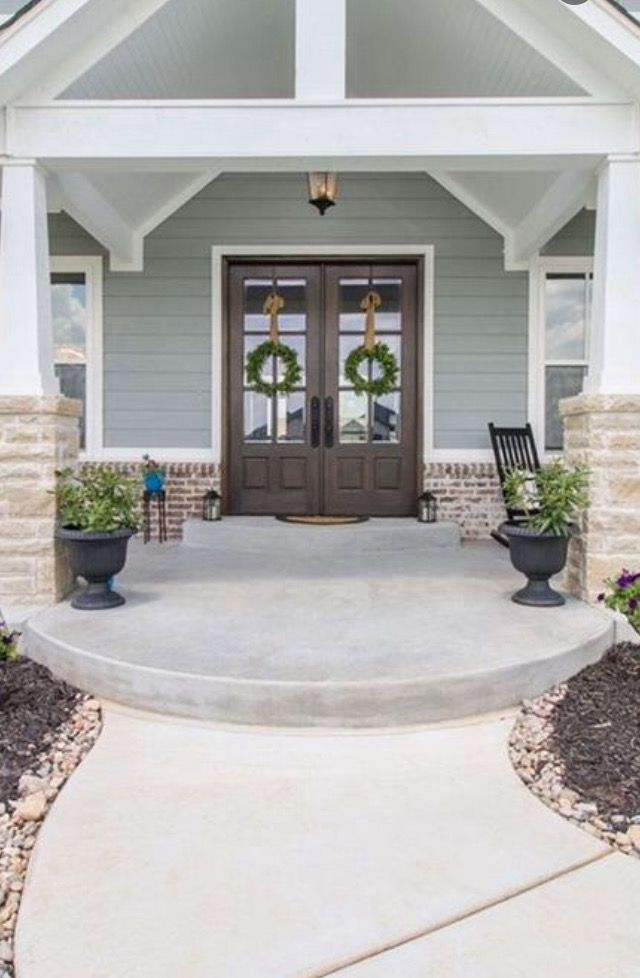 Stained Front Doors Double Door Farmhouse Design Photo Credit Christina Woods