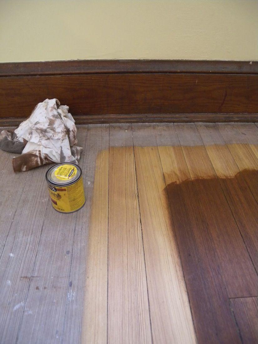 Minwax English Chestnut On Heart Pine Minwax Stain