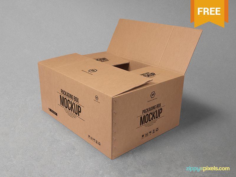 Free Cardboard Box Mockup Box Mockup Free Mockup Mockup