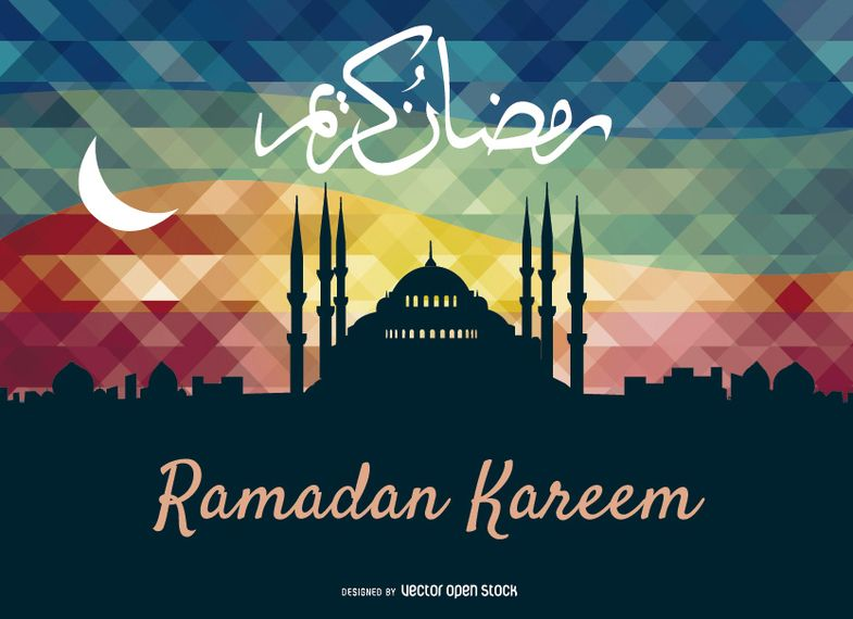 Ramadan kareem greeting card islam pinterest ramadan ramadan ramadan greetings in arabic calligraphic script over colorful background with moon an islamic greeting card for holy month of ramadan kareem m4hsunfo Images