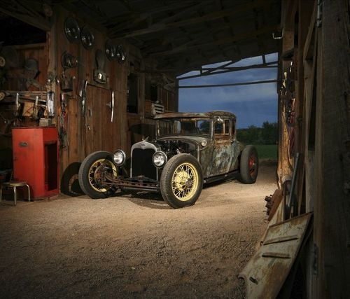 Nice old car in country barn shop country farm style 2 for Car barns garages