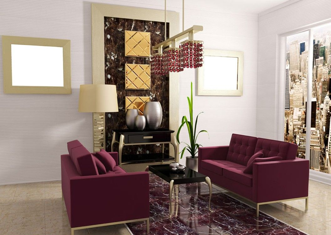 Exceptional Retro Proposition For Incredible Hangings And Purple Sofa Living Room Concept  (1057×751)