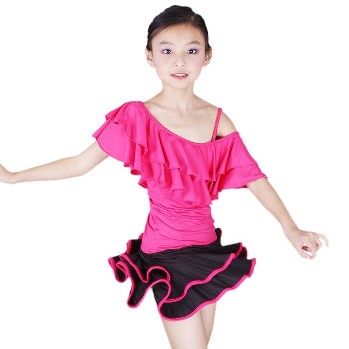 9ac76f7dc tango dresses for girls | ... Ruffles Latin Ballroom Samba Rumba Tango Girls  Dance Dress Top & Skirt