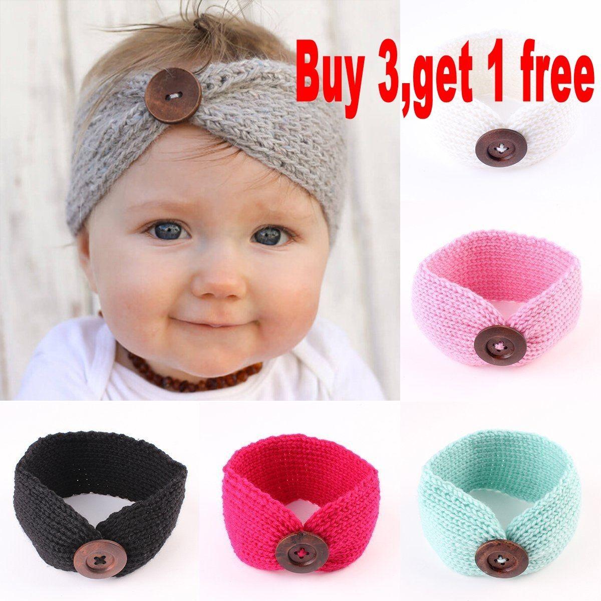 0.99 - Cute Kids Baby Girls Toddler Knit Turban Hair Band Headwear Headband  Accessories  ebay  Fashion 7cdf01d38dd