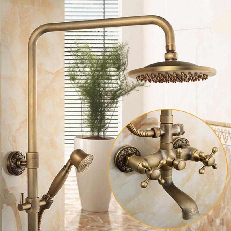 Compare Prices Antique Solid Brass Shower Set Brass Shower Head ...