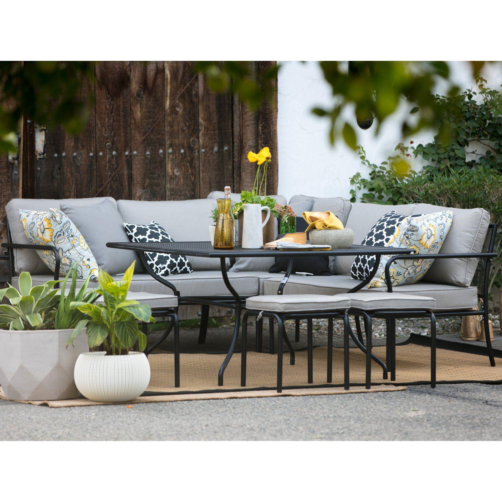 Outdoor Belham Living Parkville Metal Sofa Sectional Patio Dining
