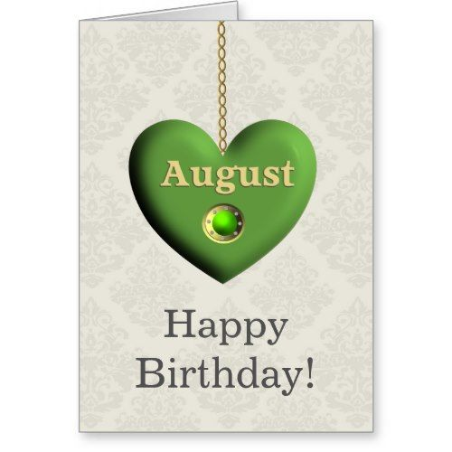 Peridot Themed August Birthday Greeting Card   Your August Birthday Guide    Holly Day