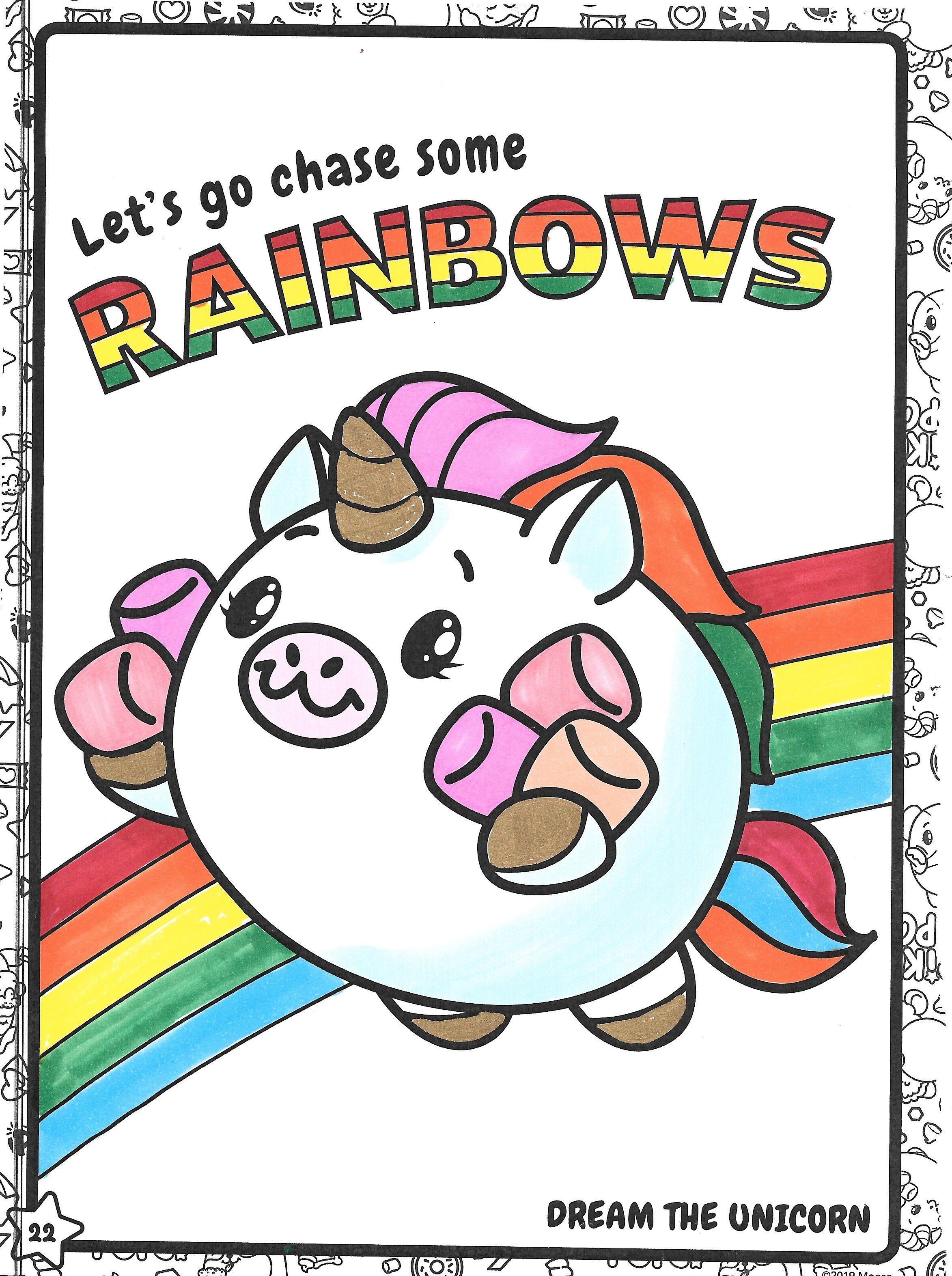 Pikmi Pops Dream The Unicorn Unicorn Coloring Pages Coloring Pages For Kids Coloring Pages
