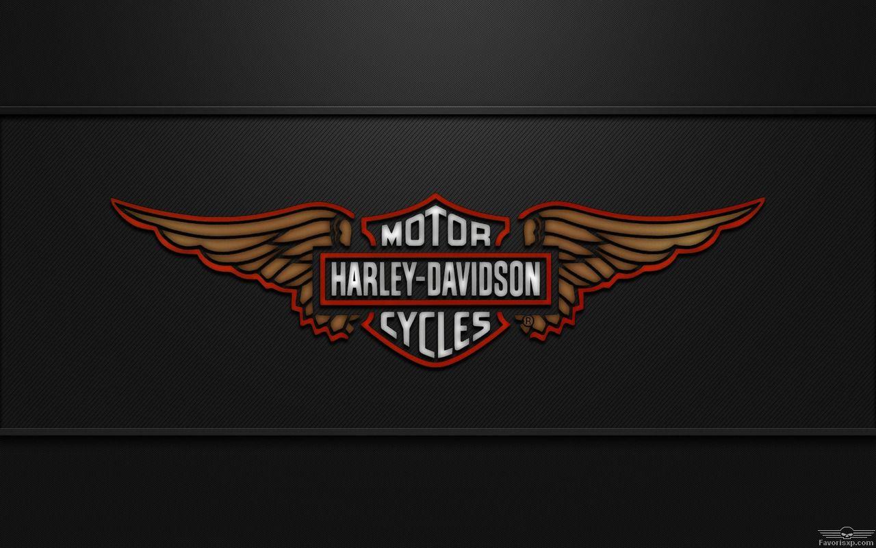 Bien connu Arrière-plan ailes d'aigle Harley-Davidson avec logo en 1280 x 800  YR22