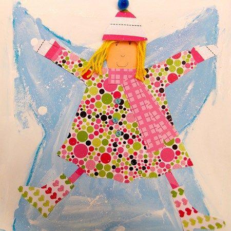 Cute little snow angels from art teacher Elise Pennington ...